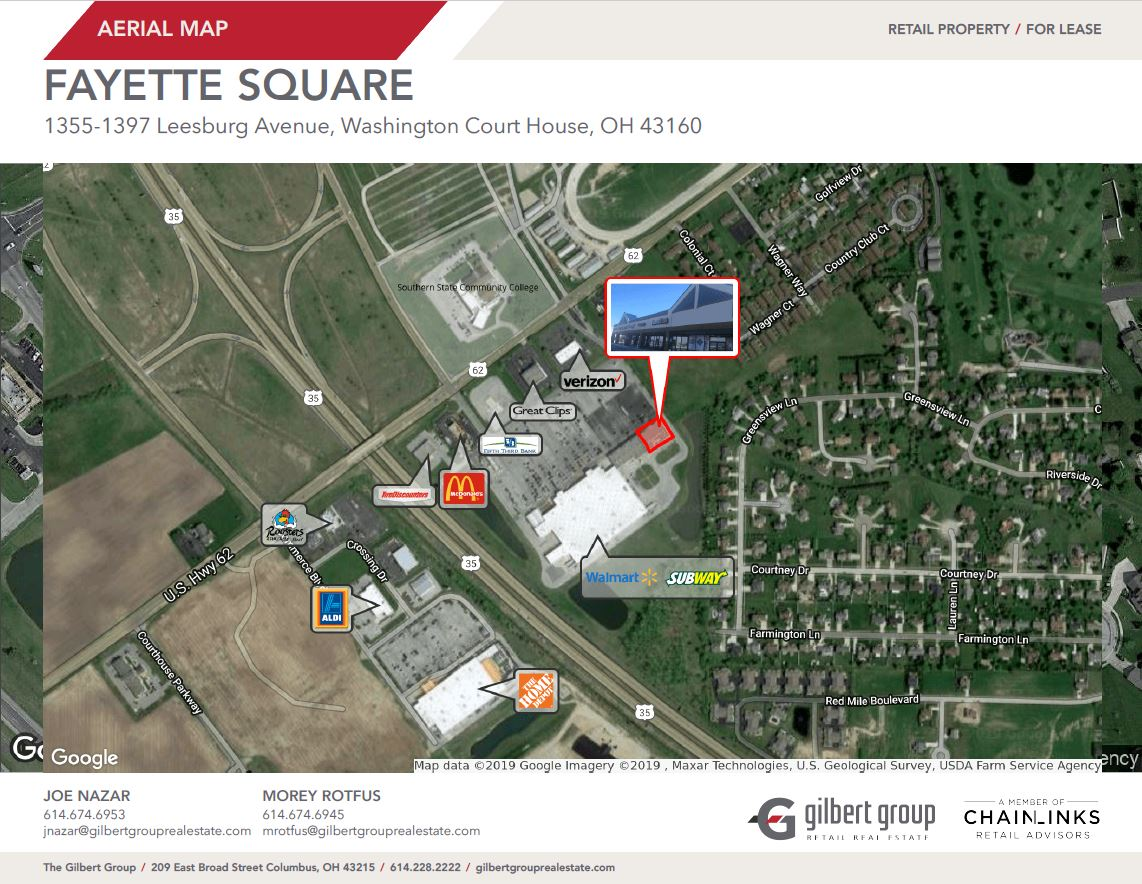 aerial map. local businesses